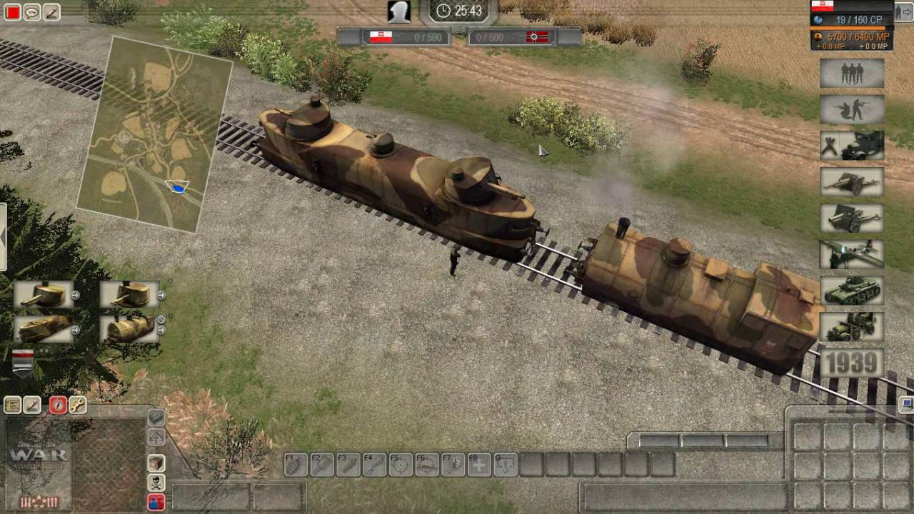 Armored train in action
