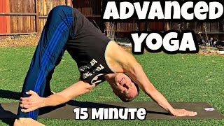 Advanced Power Yoga For Athletes 15 Minute Workout with Sean Vigue