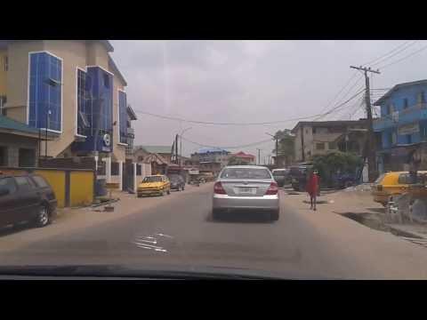 LAGOS, NIGERIA DRIVING THROUGH SOMOLU & BARIGA 20140220