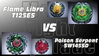 Flame Libra T125ES VS Poison Serpent SW145SD - AMVBB Beyblade Battle