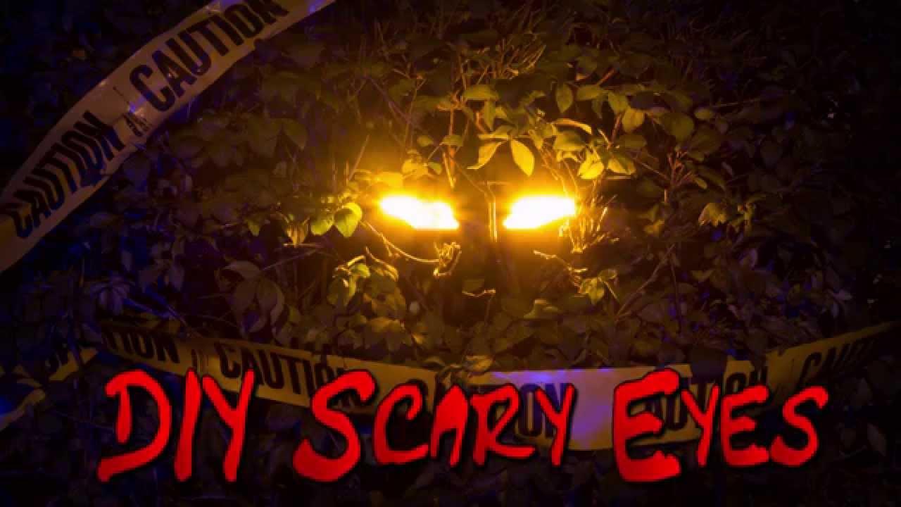 led halloween lights diy scary eyes youtube
