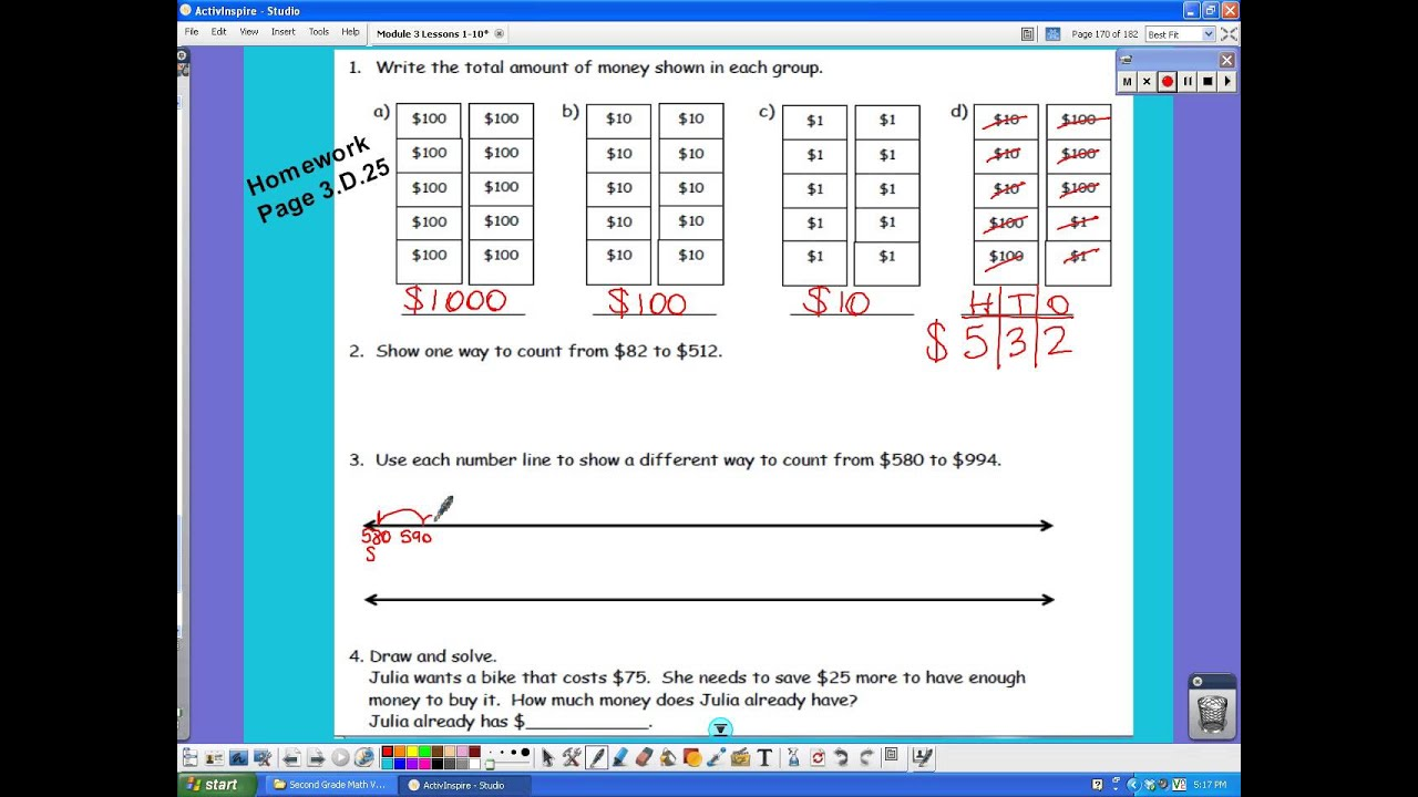 Count from $10 to $1,000 (solutions, examples, worksheets