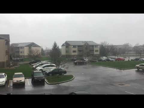 Heavy rains in Moraine, Ohio 4/15/2018