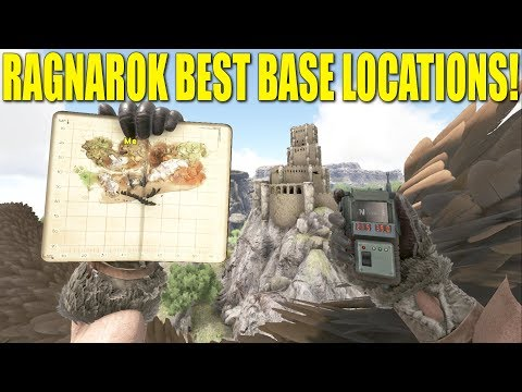 TOP 8 RAGNAROK BEST BASE LOCATIONS! PC/XBOX/PS4 (How Not to Be A Noob) - Ark:Survival Evolved