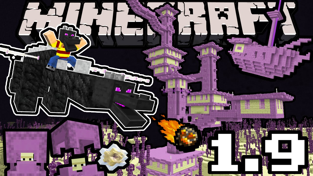 Minecraft 1 9 Snapshot Dragon Update Shulker End City