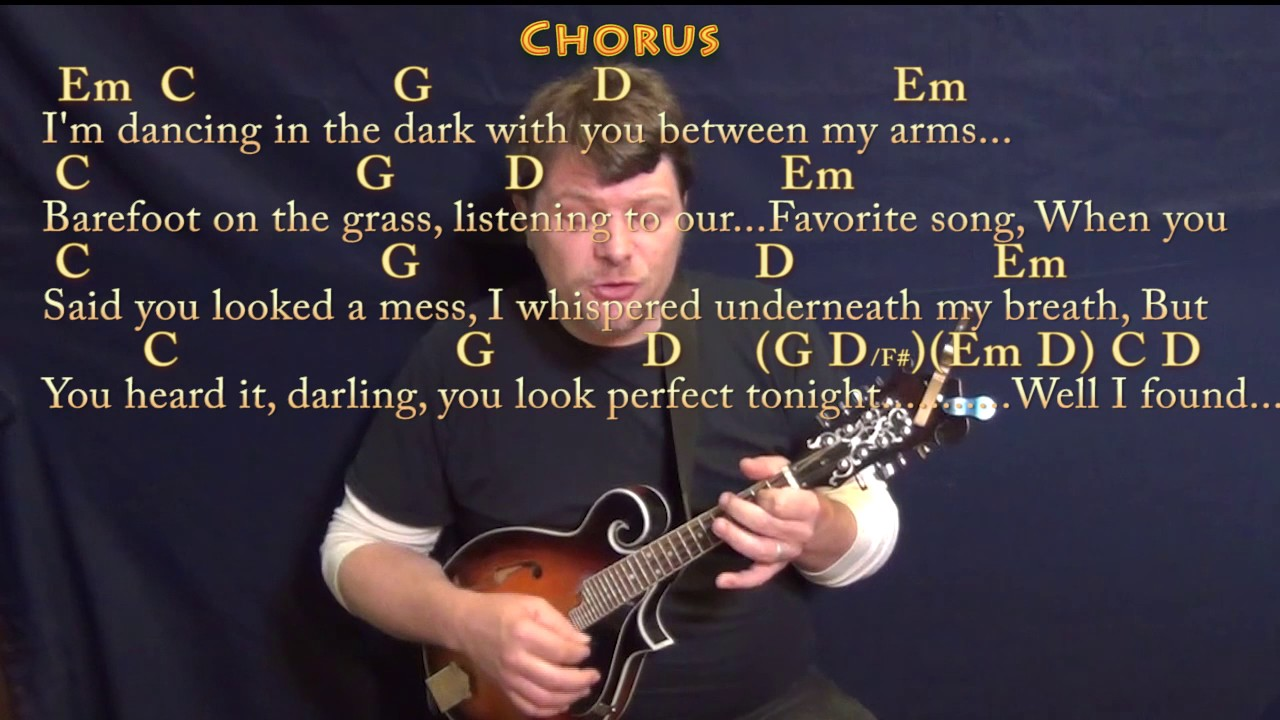 Perfect (Ed Sheeran) Mandolin Cover Lesson In G With