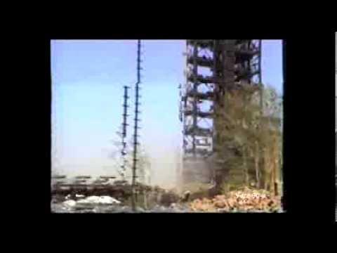 Редкие кадры сноса старых установок на уфимских НПЗ. История. Хроника.