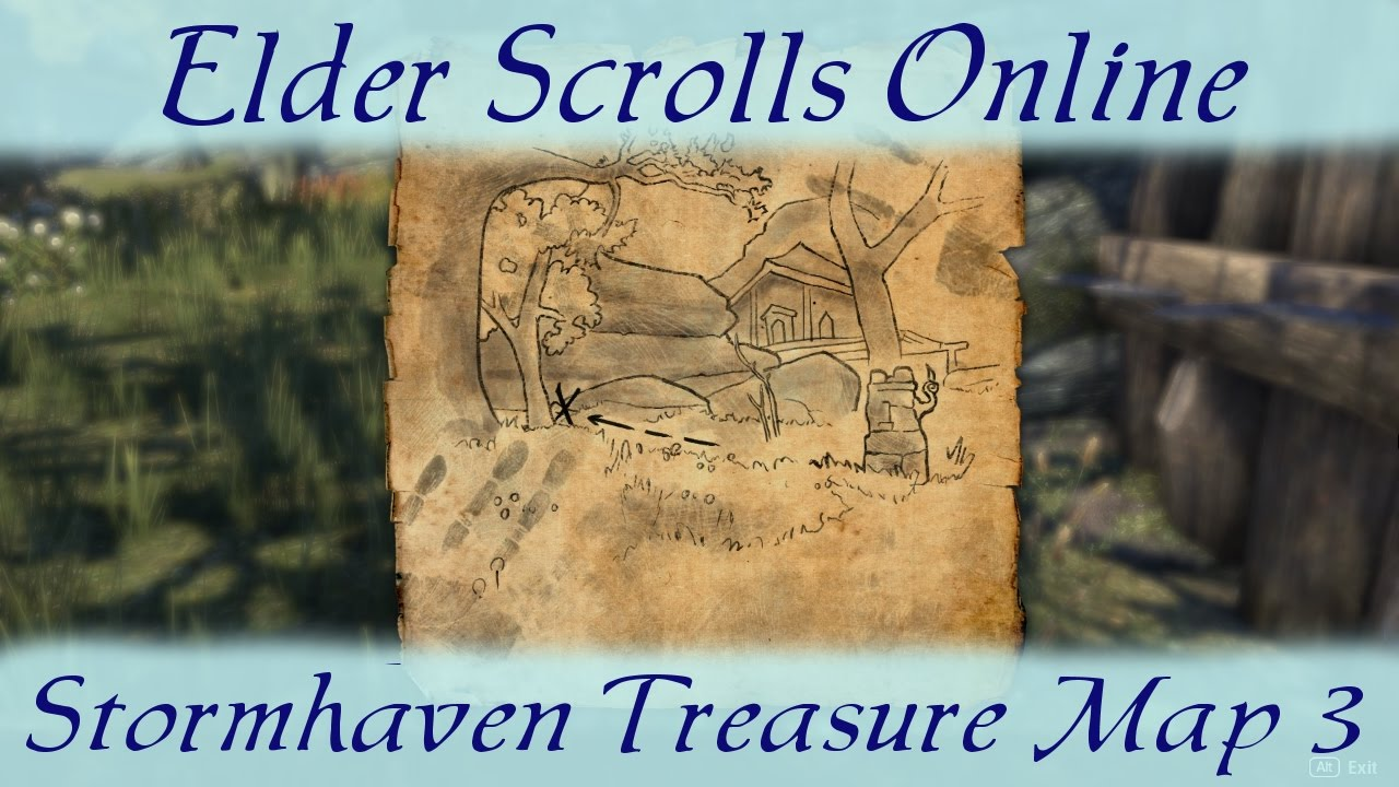 Stormhaven Treasure Map 3 iii [Elder Scrolls Online] ESO   YouTube