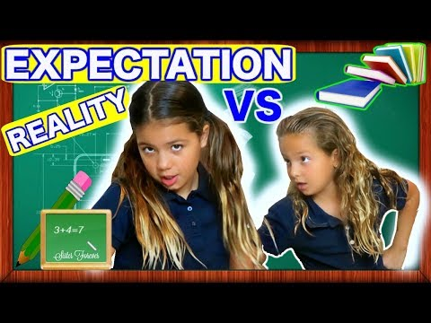 BACK TO SCHOOL EXPECTATION VS REALITY 'SISTER FOREVER'