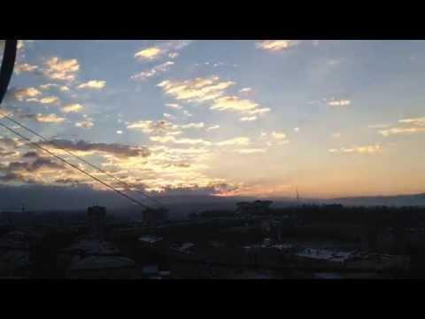 Восход Солнца в Ереване