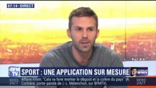 Freeletics : présentation sur BFMTV avec Alexandre, coach sportif PST