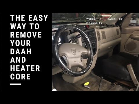 Dodge Ram Dash And Heater Core Removal The Easy Way
