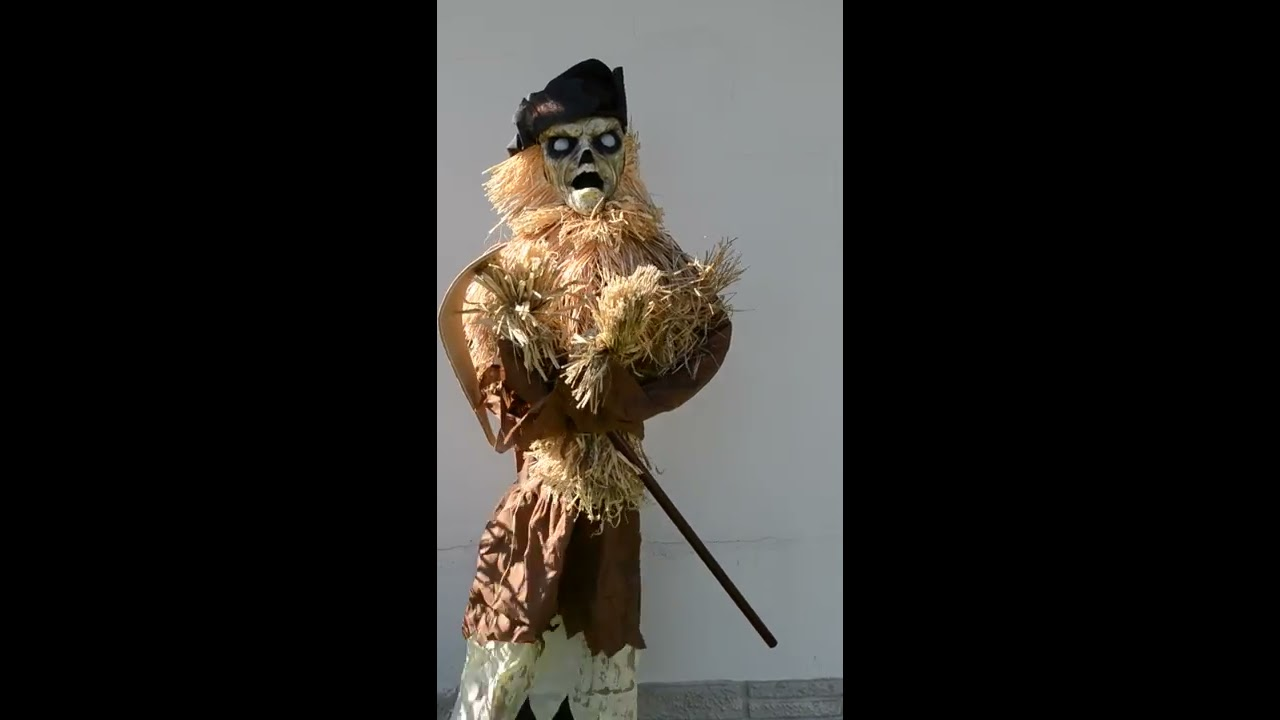Spirit Halloween Harvester Scarecrow Animated Prop Scary Animatronic Decoration