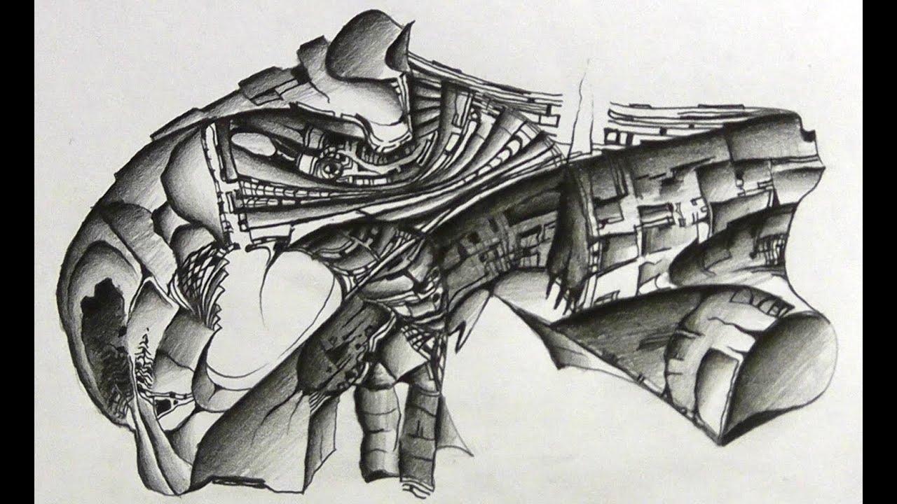 Abstract Pencil Art Drawings
