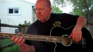 Acoustic bass guitar mellow jam
