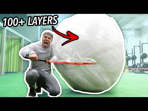 GIANT UNBREAKABLE BUBBLE WRAP BALL (WORLD RECORD 500+ LBS)