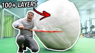 GIANT UNBREAKABLE BUBBLE WRAP BALL (WORLD RECORD 500+ LBS) Video