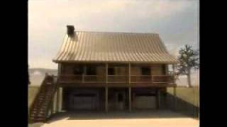 The Mackenzie Log Cabin Plan Timber Frame Home.wmv
