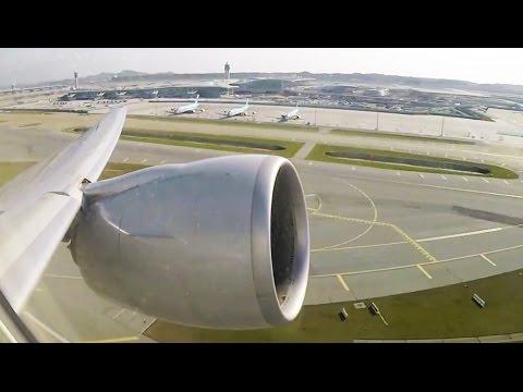 MASSIVE Boeing 777-300ER Engine ROOOOAAAR on Takeoff - GREAT Incheon Airport Views!!! [AirClips]
