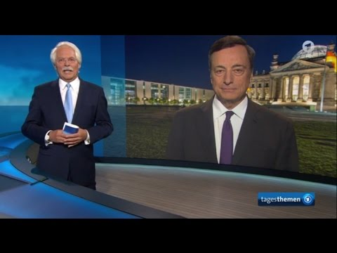 Mario Draghi Interview mit den ARD Tagesthemen - Deutsch