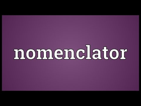 Header of nomenclator