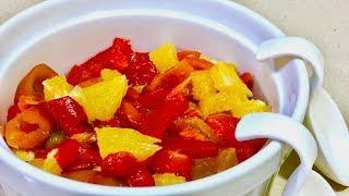 🍊 Салат с красным перцем и апельсином 🍊 Рецепты салатов 🍊