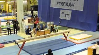 Олимпийские надежды 2015. Бревно.  Ауди Нелли  13,900  1 место. 1 разряд