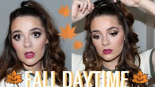Affordable Fall Makeup Tutorial | Poppin' Bright Berry Lips and Sunset Eyes | Brittany O'Barr
