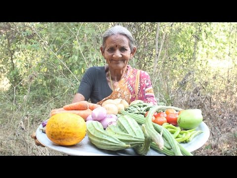 Grandma's favourite Mixed Vegetables curry in village style || Myna Street Food || Food Info