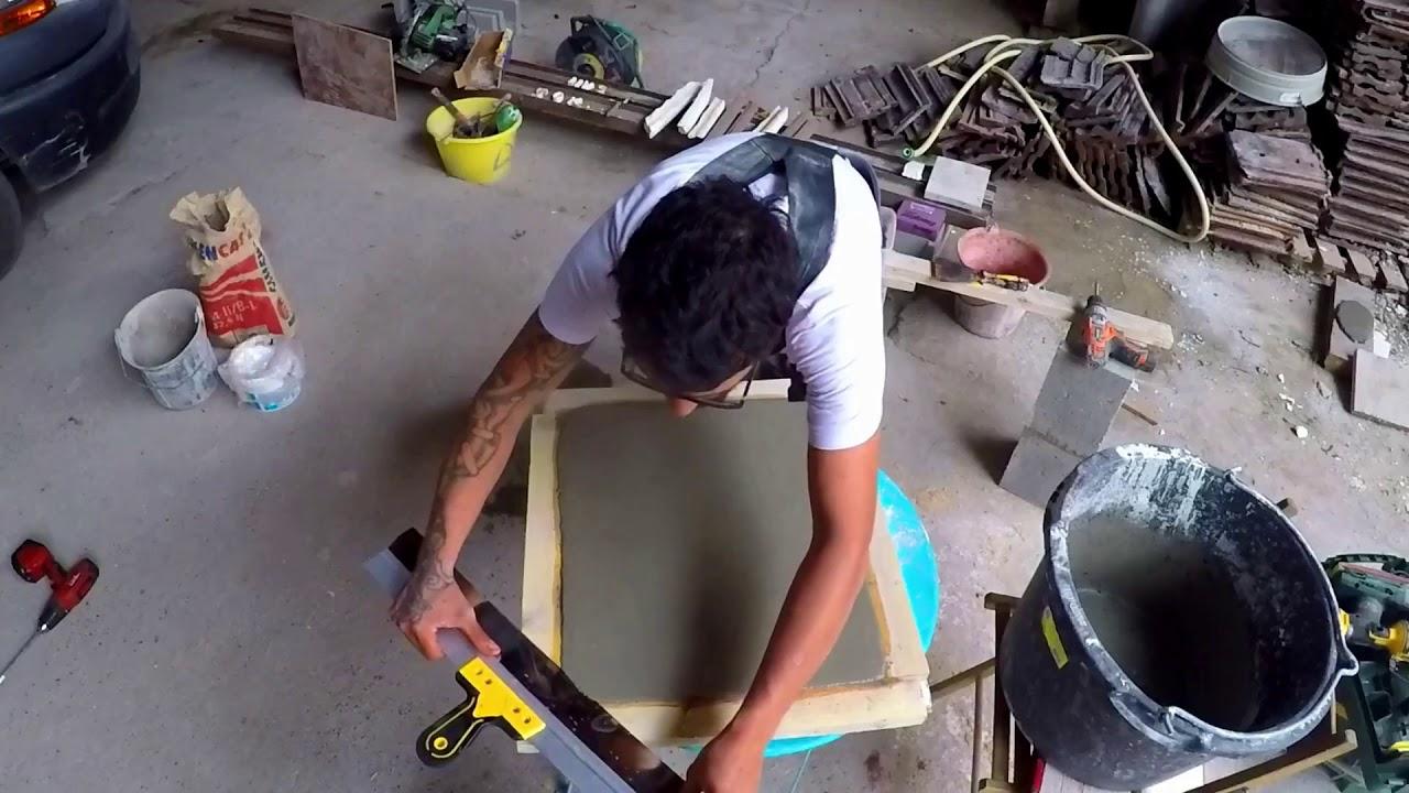 faire une plaque en ciment paisseur 3 cm tutoriel youtube. Black Bedroom Furniture Sets. Home Design Ideas
