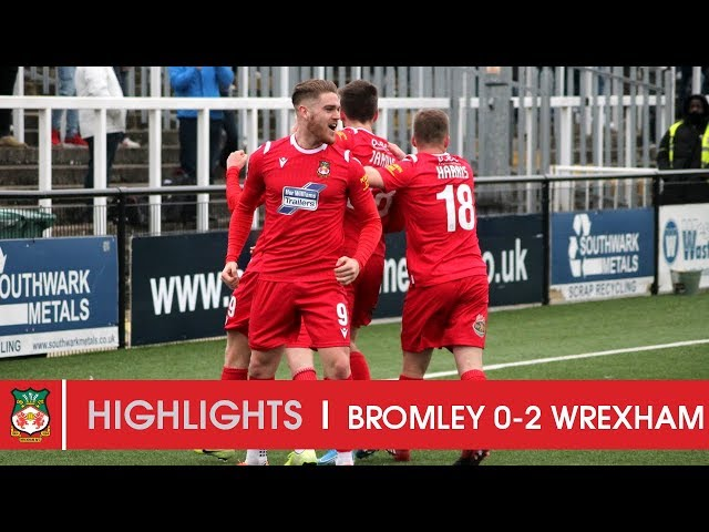 HIGHLIGHTS | Bromley 0 Wrexham AFC 2