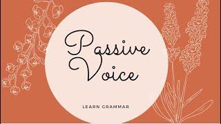 Passive voice - questions
