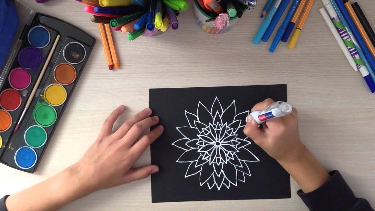 ZENTANGLE ART - Corrector + Cartulina Negra - YouTube
