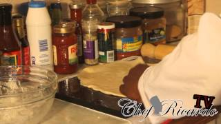 Caribbean Pizza Recipe From Chef Ricardo Cooking ( Home Made )