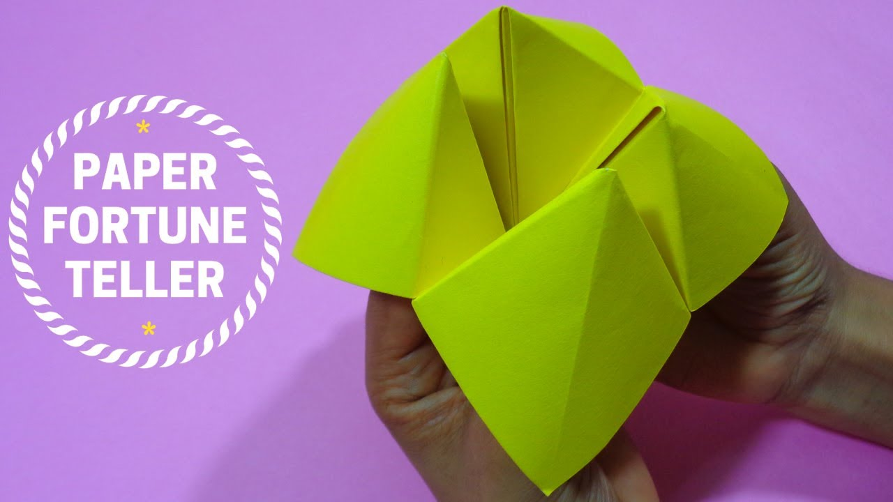 How to Make a Paper Fortune Teller - YouTube | 720x1280