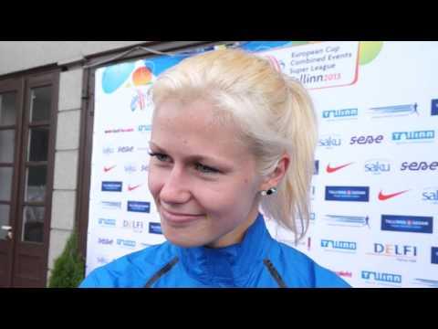 Mari Klaup (EST) after the EC Combined Events, Tallinn 2013