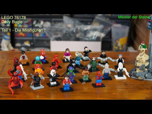 LEGO® Marvel Spider-Man – Daily Bugle, Minifiguren, Meister der Steine