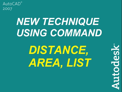 AutoCAD 2007 TUTORIALS -40- Distance, Area, and List