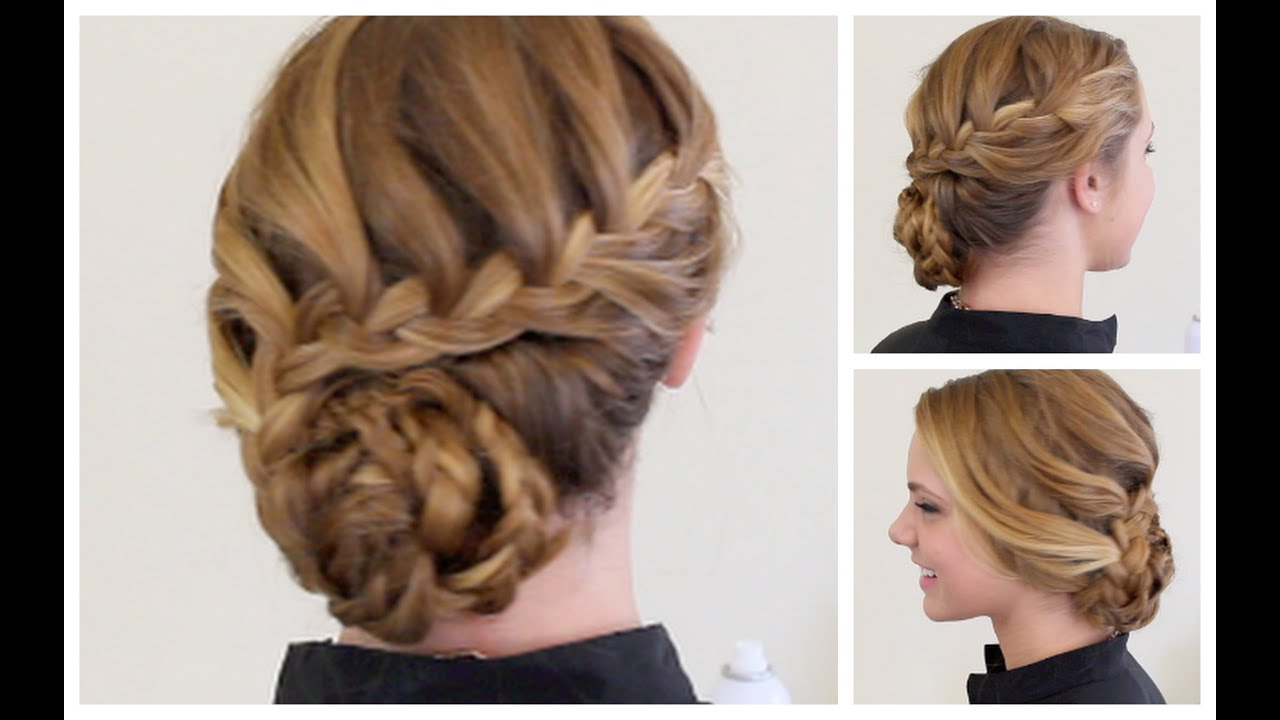 braided hairstyles for prom : Braided Formal Updo - YouTube