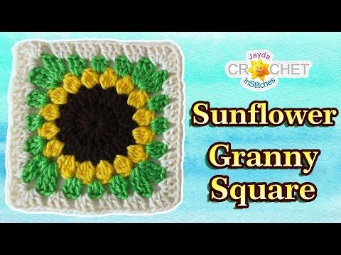 Granny Square Sunflower Crochet Pattern