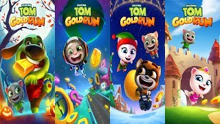 Talking Tom Gold Run Gameplay - Talking Tom vs Talking Angela vs Neon Angela vs Raccoon Robber