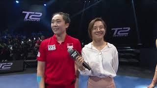T2ダイヤモンド マレーシア 女子シングルス準々決勝 フォン・ティエンウェイvs丁寧 試合終了後インタビュー