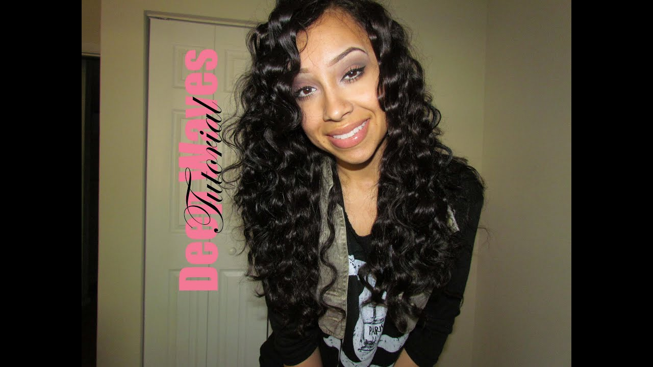deep waves hair tutorial - youtube