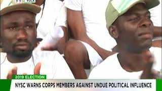 NYSC warns corps members against undue political influence