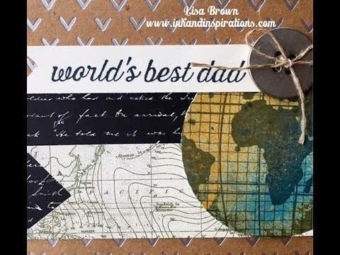 Handmade Father's Day Card with Stampin' Up! Going Global