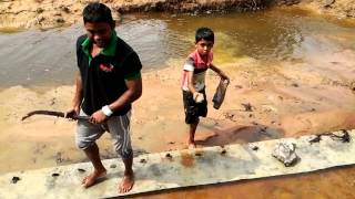Funny.. sri lankan child catching fish