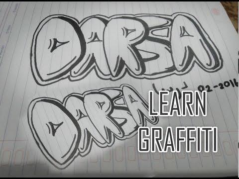 I Learn Graffiti On Paper 1 Simple Graffiti Belajar Grafiti Di