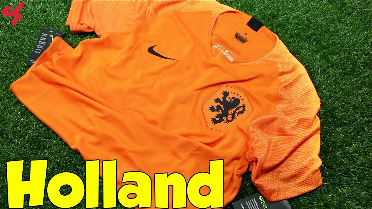 ad3d45182 Nike Holland 2018 Home Soccer Jersey Unboxing + Review - YouTube