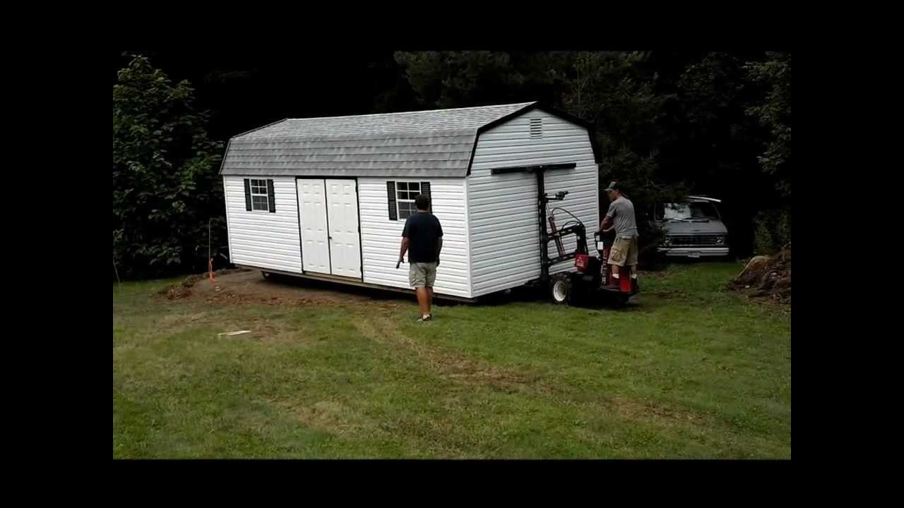 Shed Move With Our Mule Youtube