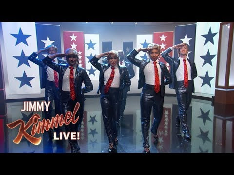 Jimmy Kimmel's Halftime Tribute to Trump